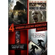 4 Urban Legend Monster Movies: Werewolf Rising   Monster Brawl   Black Water Vampire   Hunting The Legend by