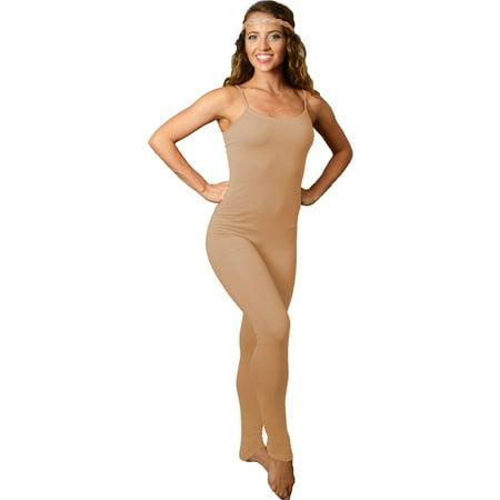 Women's Ankle Length Camisole Catsuit Unitard - Large (8-10) / - Womens Cat Suits