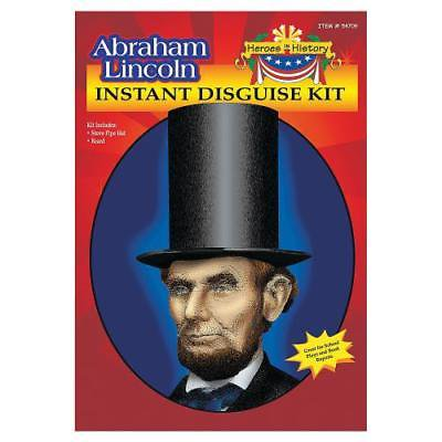 IN-13686872 Heroes in History: Abraham Lincoln Beard & Hat 1 Set(s) (Lincoln Beard)
