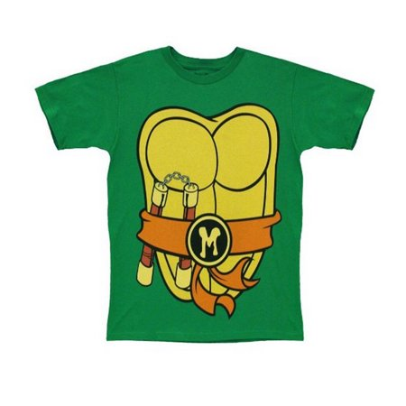 Teenage Mutant Ninja Turtles I Am Mike Mens Costume T-Shirt | L (Ninja Turtle Costume Shirt)