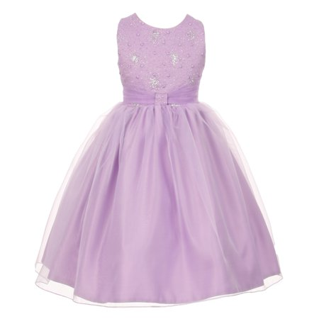 Sparkly Dresses For Kids (The Rain Kids Little Girls Lilac Organza Sparkly Elegant Occasion Dress)