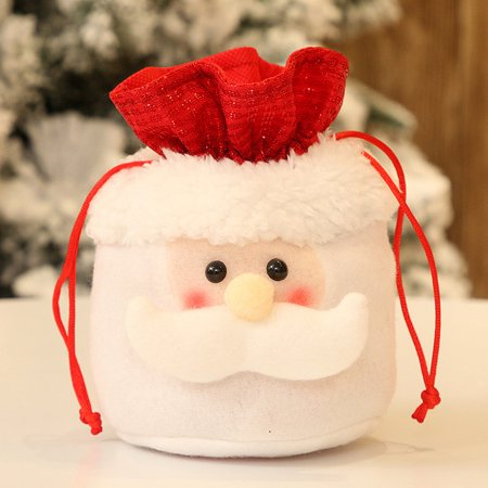 Christmas Candy Party Gift Bag Decorations Xmas Storage Packing Wrapper Supplies ()