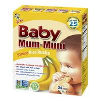 Baby Mum Mum Rice Rusks Banana Flavored