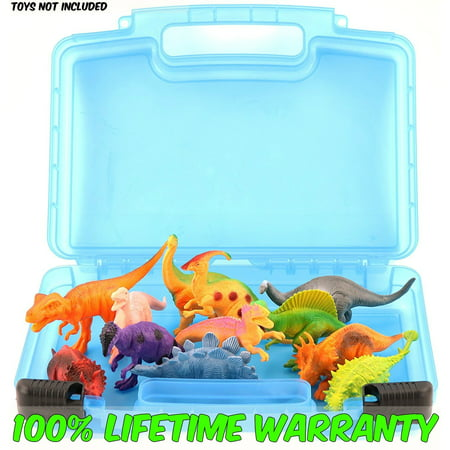 Life Made Better Toy Storage Organizer. Fits Up To 15 Dinosaurs Figures. Compatible With Kidwerkz Dinosaur Figures , Prextex Dinosaur Figures And Fun Express Dinosaur Toys