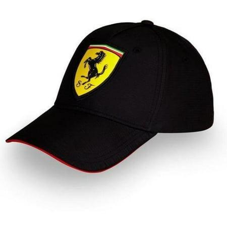 Ferrari Scudetto Carbon Cap in Black - Elite Carbon Ferrari