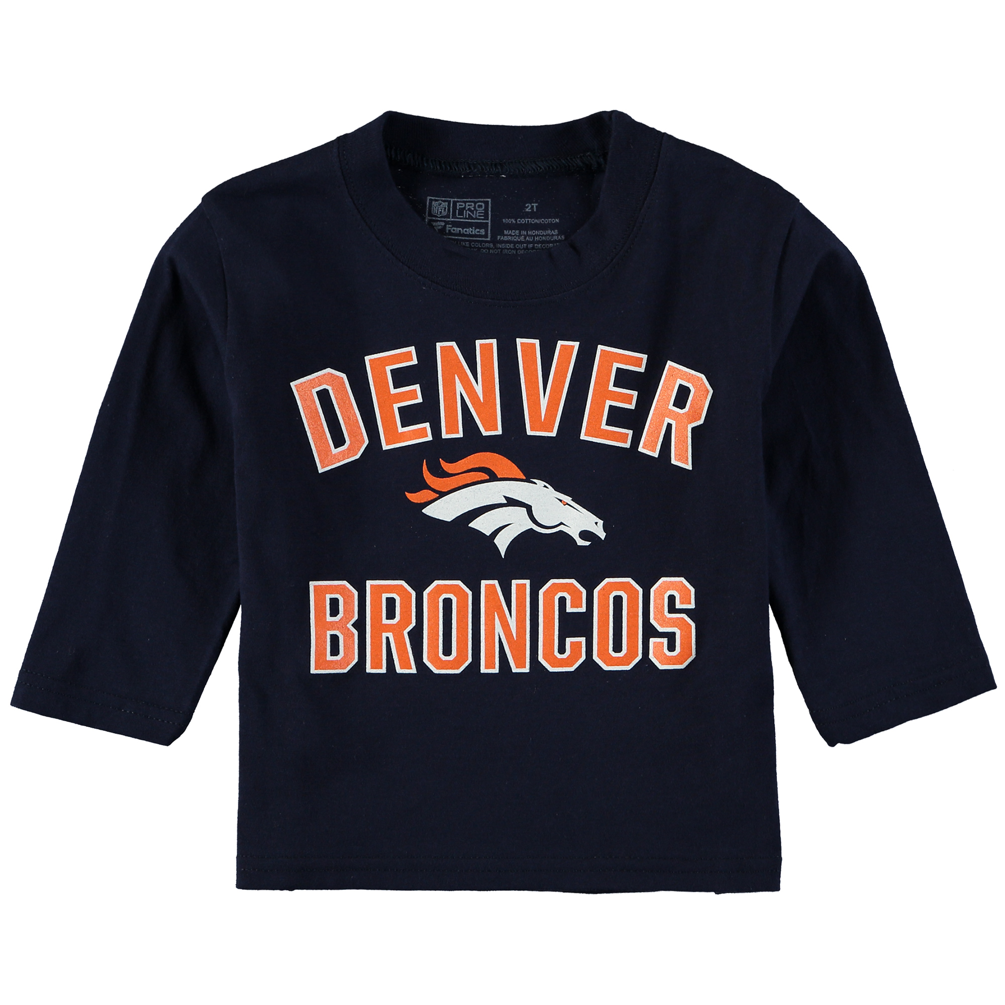 Denver Broncos NFL Pro Line by Fanatics Branded Toddler Victory Arch Long Sleeve T-Shirt - Navy