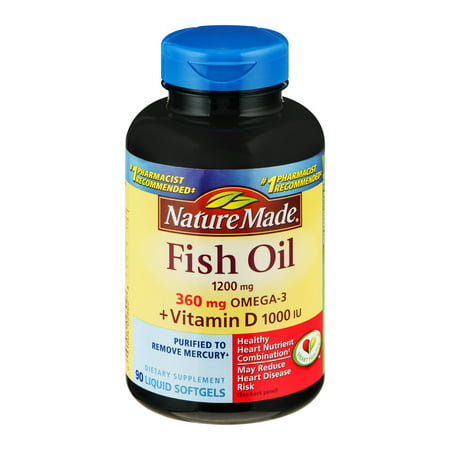 Nature made fish oil 1200mg vitamin d 1000 iu liquid for Nature made fish oil