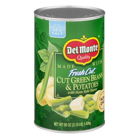 (6 Pack) Del Monte Fresh Cut Green Beans & Potatoes, 50