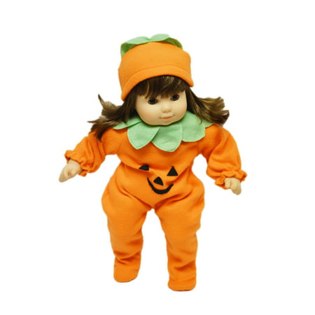 My Brittany's Pumpkin Costume For American Girl Dolls Bitty Twins - Halloween Pumpkin Outfit