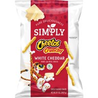 Simply Cheetos White Cheddar Crunchy Cheese Flavored Snacks, 8.5 oz Bag