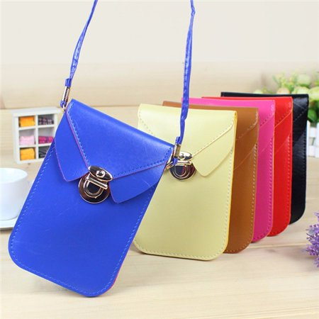 Fashion  Leather Phone Bags & Cases Shoulder Bag Woman Strap Wallet Purse Mobile Phone Package for under 5.8 Cellphone
