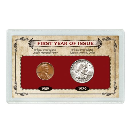 American Coin Treasures 13255 First Year of Issue Lincoln Memorial Penny and Susan B. Anthony
