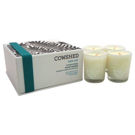 Wild Cow Invigorating Travel Candles by Cowshed for Unisex - 4 x 1.34 oz Candle