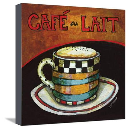 Cafe Au Lait Stretched Canvas Print Wall Art By Jennifer Garant