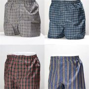 Mens Plaid Boxer Shorts, Assorted Color - Size 30-32 - 144 Per Pack - Case of 144