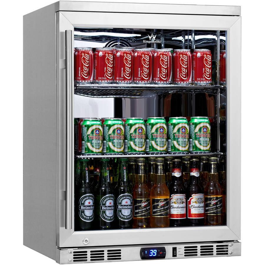 Kingsbottle 140-Can Stainless Steel Beverage Fridge