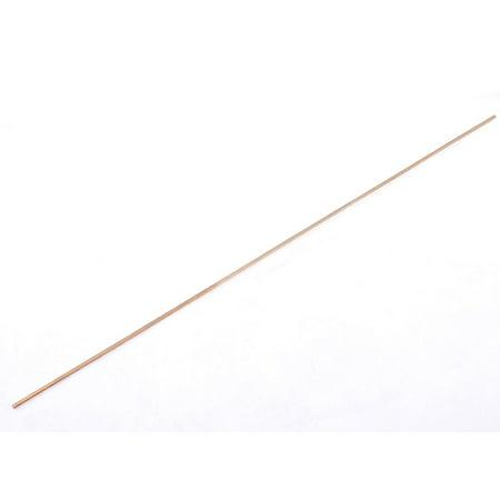 Unique Bargains 43cm Long Flat Shape 3mmx 430mm Copper Welding Rod Electrode