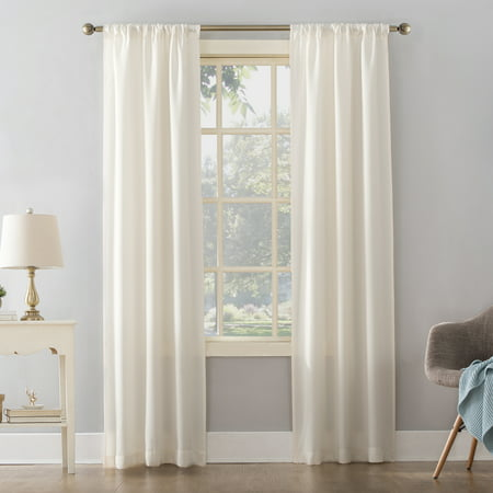 Mainstays Textured Solid Curtain Panel ()