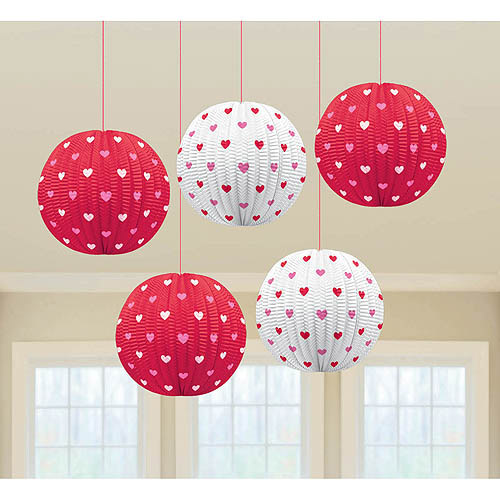 Valentine Mini Printed Paper Lanterns
