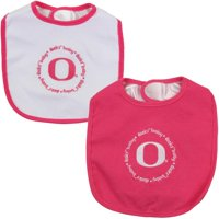 Oregon Ducks Infant 2-Pack Baby Bib Set - Pink/White - No Size