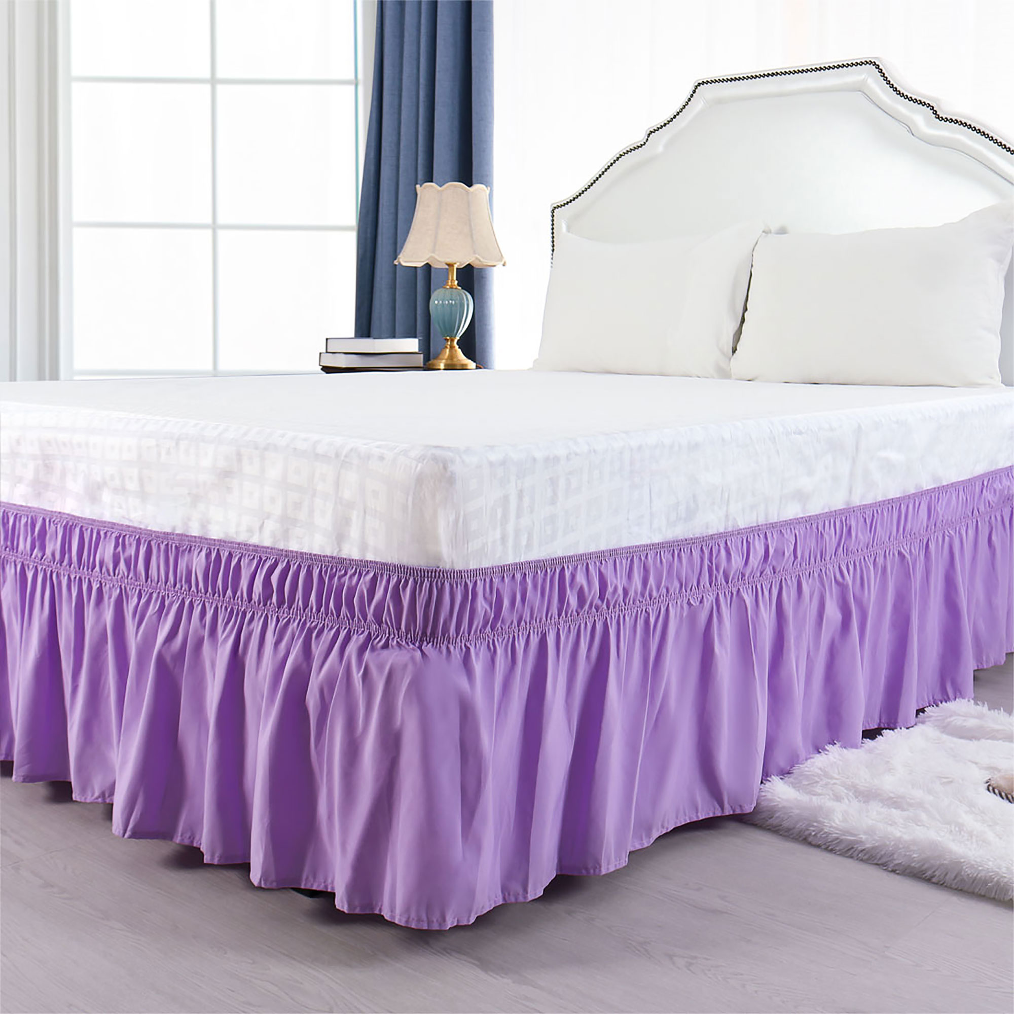 Valances Bed Skirts Purple Home Furniture Diy Omnitel Com Na