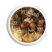 """13.25"""" White Tail Deer Dial Thermometer"""
