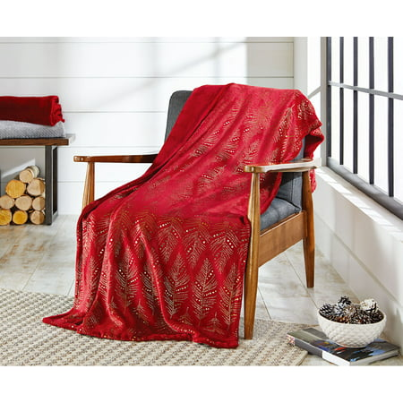 Better Homes & Gardens Oversize Reversible Velvet Plush Throw Blanket, 1 Each