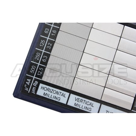 Accusize - Surface Roughness Comparator Inch/Metric Combo, #EG02-0226
