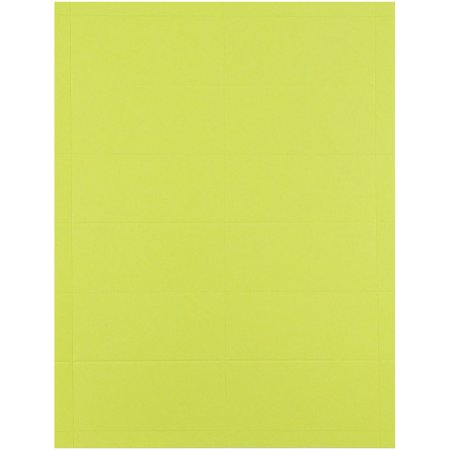 JAM Paper Printable Business Cards, 3 1/2 x 2, Brite Hue Ultra Lime, -