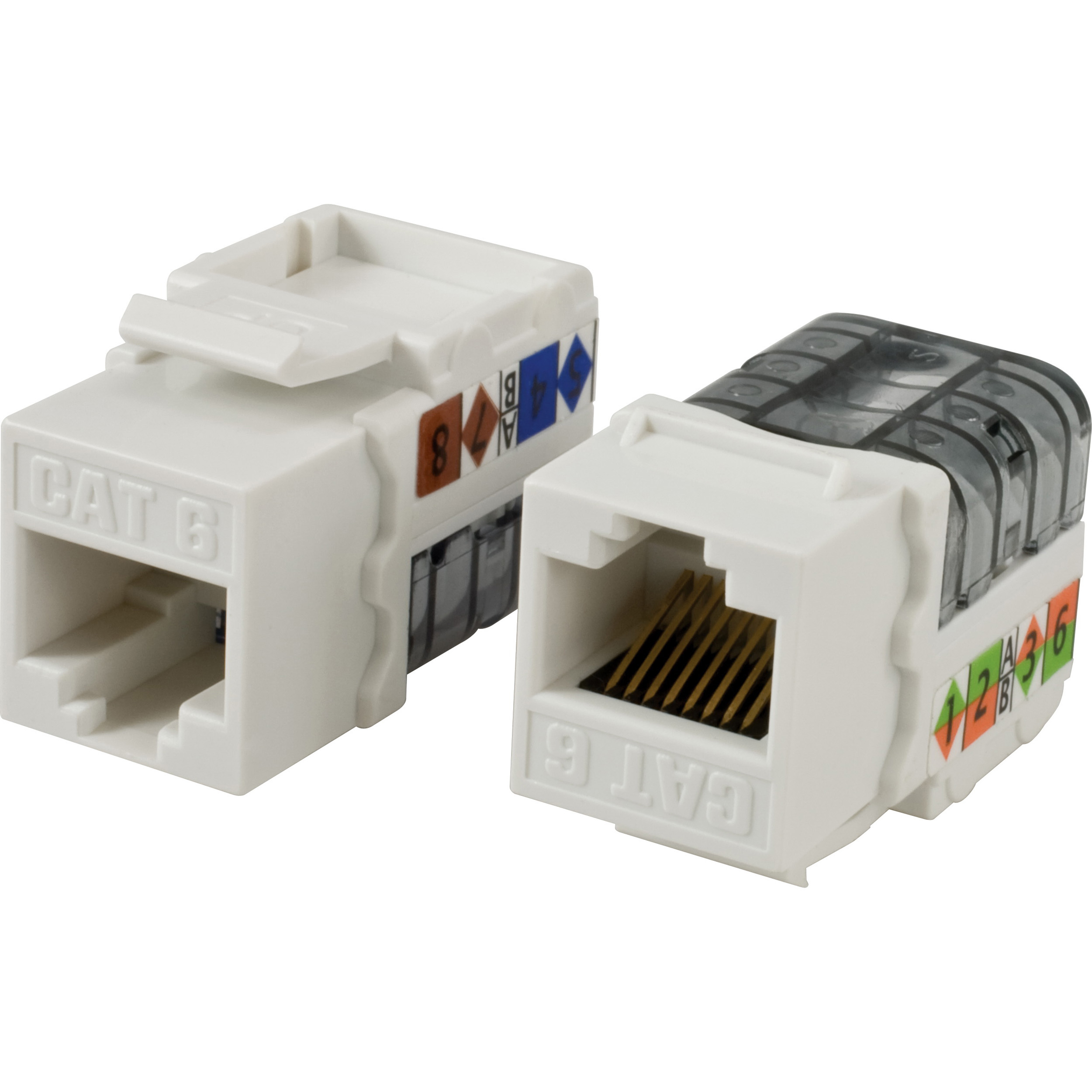 Comcables Cat.6 Network Connector - 1 X Rj-45 Female - Phosphor Bronze-plated Contacts, Gold-plated Contacts, Nickel-plated Contacts - White (cn-c6c-wht)