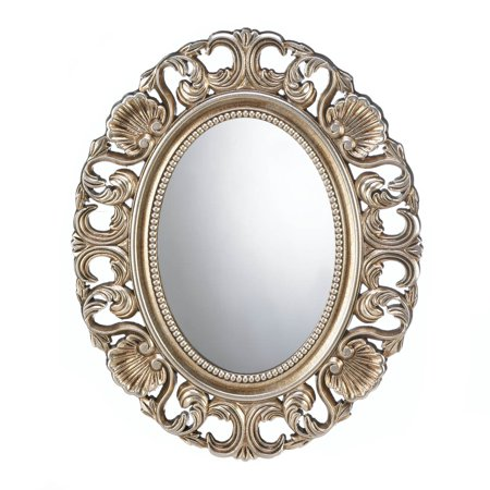 Mirror Wall Art, Framed Unique Antique Wall Mirror For Living Room (gold) ()