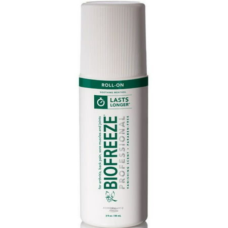 Cold Therapy Pain Relief Biofreeze PharmacopeiaMenthol Arnica Extract and Aloe RollOn 3 oz