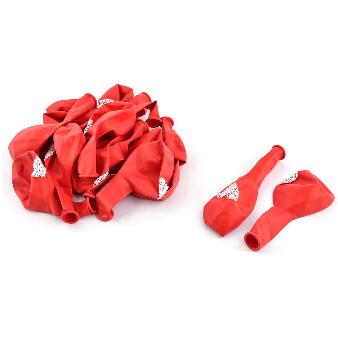 Unique Bargains Wedding Latex Heart Pattern Ornament Balloons Red 12 Inches 20 Pcs