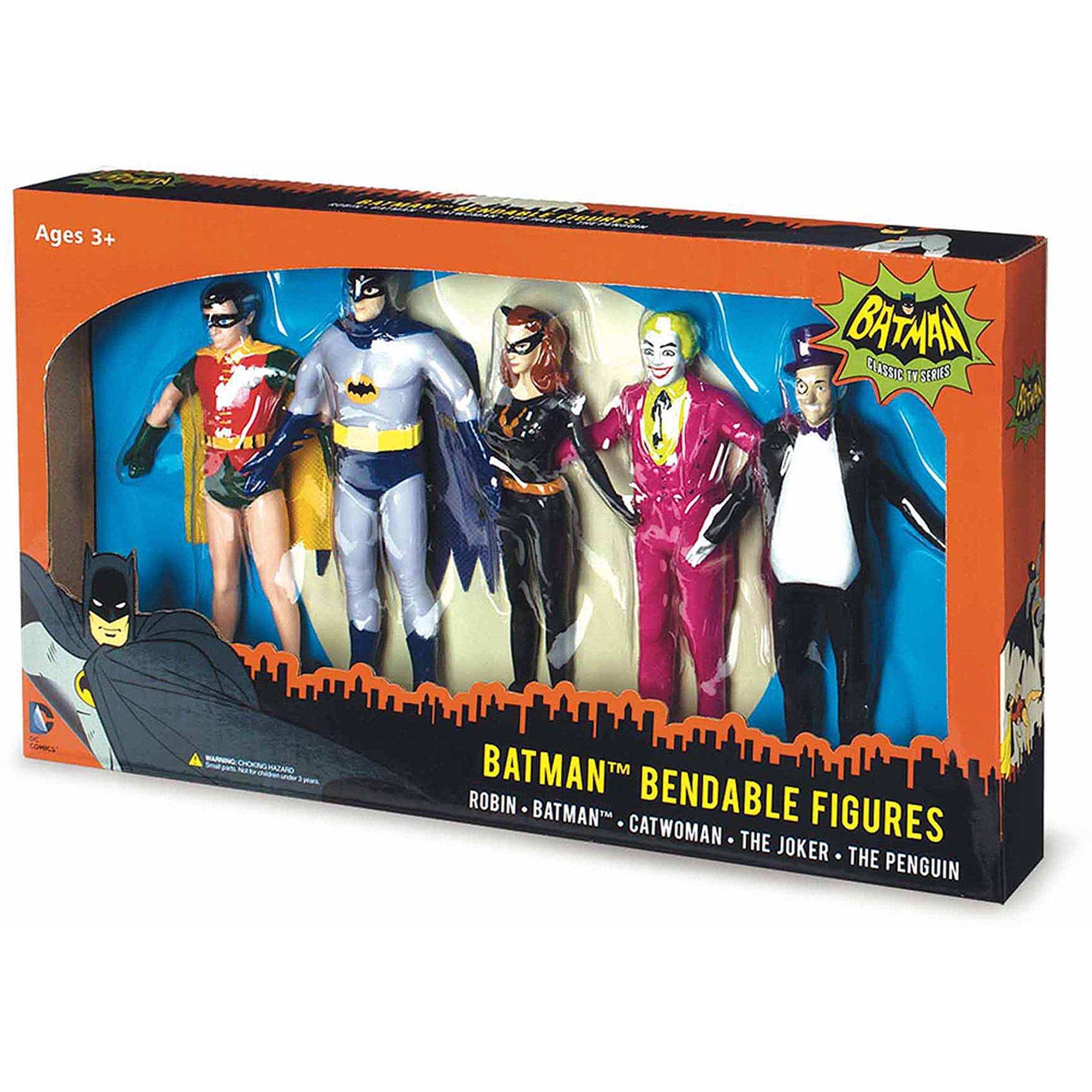 NJ Croce Batman Classic TV Series Bendable Boxed Set, Batman, Robin, Catwoman, The Joker and The Penguin