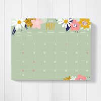 2020 Monthly Themed Art and Design Large 22x17 Desk Pad Blotter Calendar - Oversized for Mom, Family