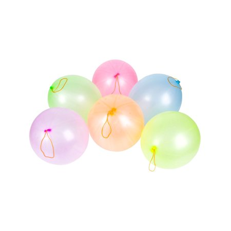 100 Punch Ball Birthday Party Balloons With String Costume Accessory