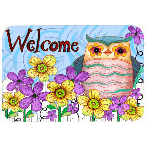 Welcome Owl Kitchen or Bath Mat 20x30 PJC1095CMT