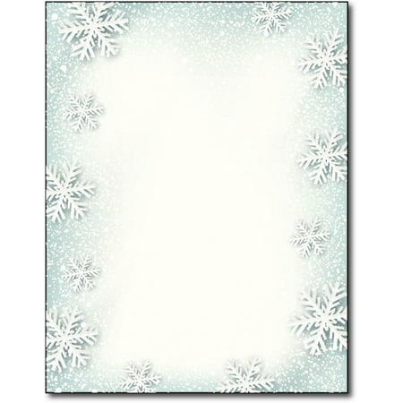 Paper Snowflakes Holiday Stationery Paper - 80 Sheets