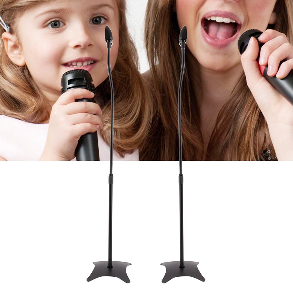 A Pair Professional Microphone Stand Holder Universal Surround Sound Stand Set~~^^ by