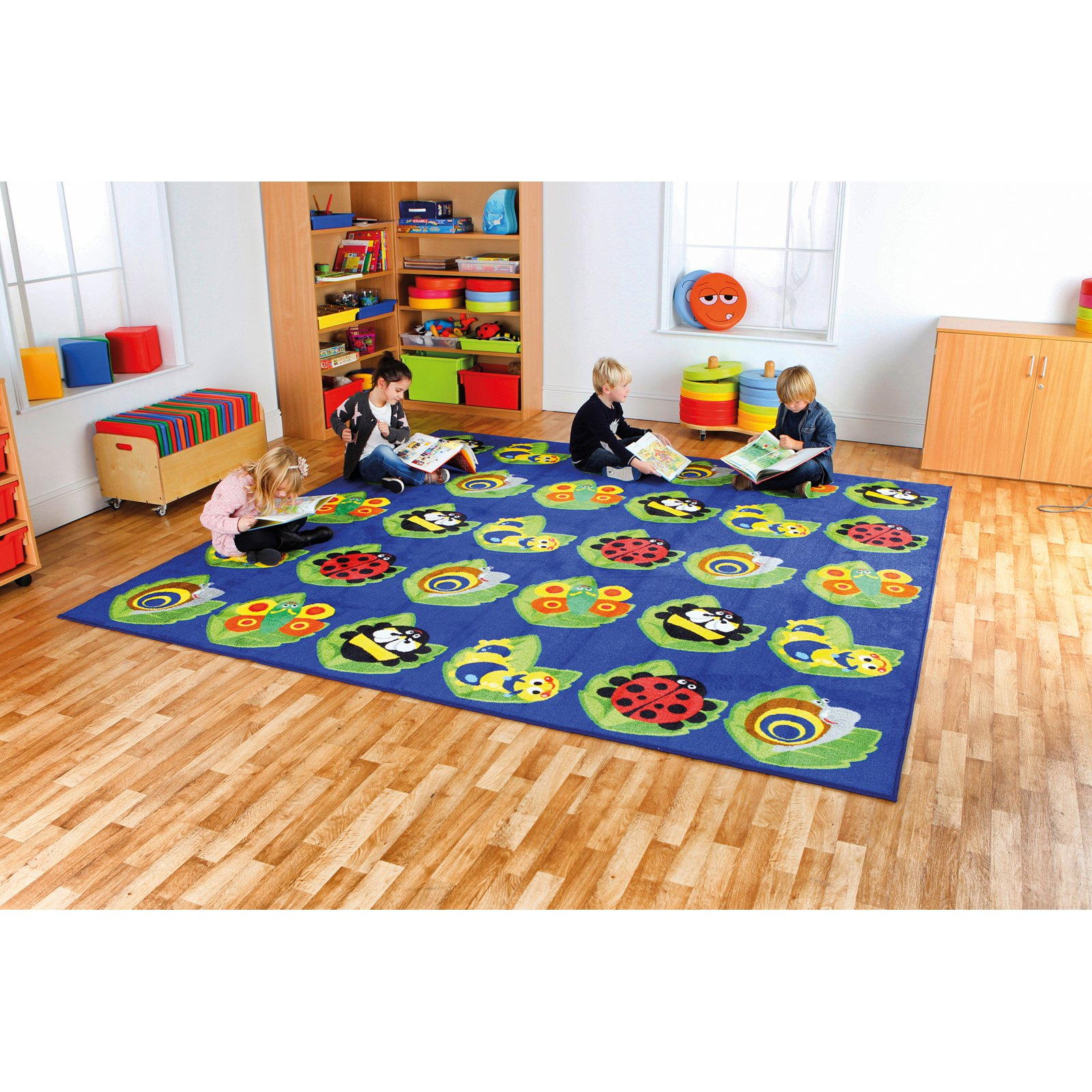 Kalokids Back to Nature Square Bug Placement Carpet