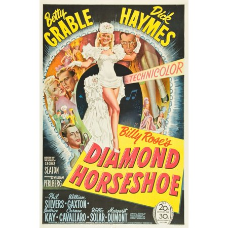 Diamond Horseshoe Betty Grable Dick Haymes Phil Silvers 1945 Tm And Copyright 20Th Century Fox Film Corp All Rights Reserved  Movie Poster Masterprint