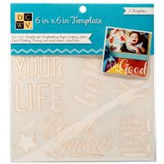 "Diecuts With A View Templates 6""x6""-alph"