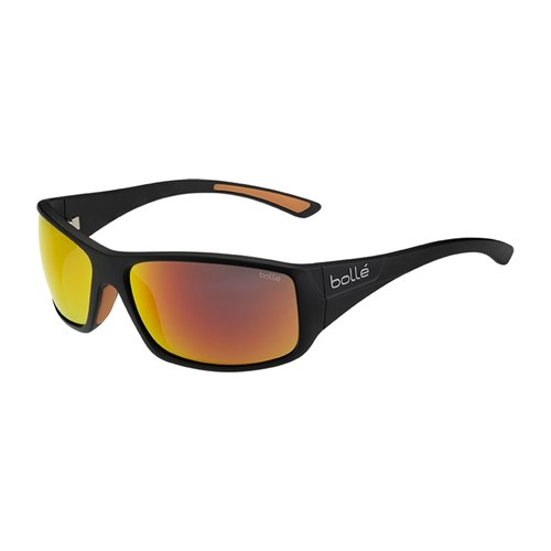 TNS Grey Lenses 11891 BOLLE men/'s KINGSNAKE wrap Sunglasses Shiny Black