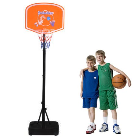 Ktaxon 4.1ft - 5ft Adjustable Basketball Stand System Hoop Backboard Frame, Goal Training Toy Equipment, Children Kids Boys Girls Sports Ball Game