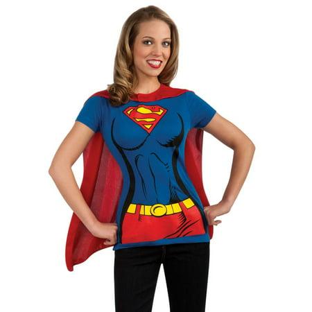 Supergirl Adult Halloween Shirt Costume