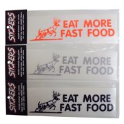 Graphic Designs EAT MORE FAST FOOD with A Running Buck Vinyl Decal Sticker, 208