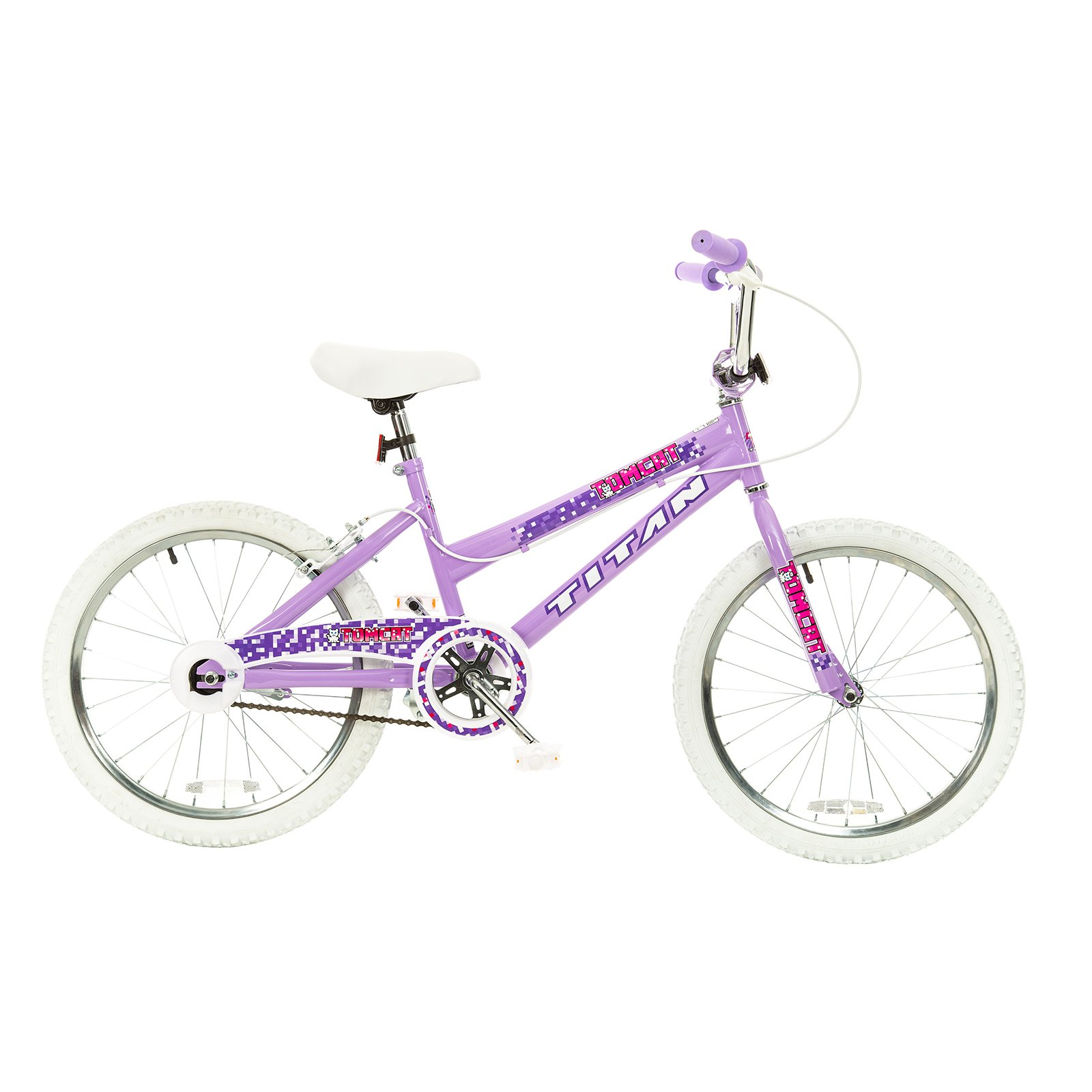 "TITAN Tomcat Girls BMX Bike with 20"" Wheels, Lavender"
