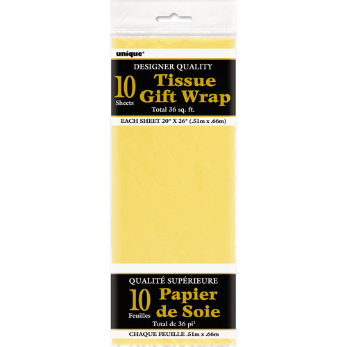Yellow Tissue Paper Sheets, 10pk