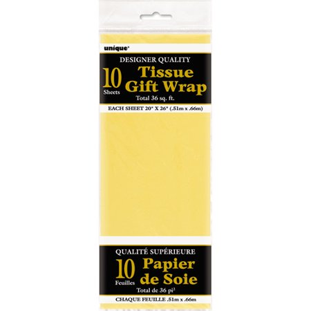 Yellow Tissue Paper Sheets  10Ct