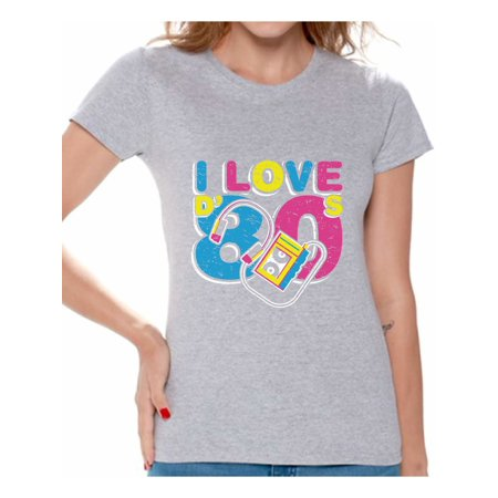 Awkward Styles I Love D' 80s Shirt 80s Costume 80s Clothes for Women I Love the 80s Shirt Womans 80s Accessories 80s Rock T Shirt 80s T Shirt Retro Vintage Neon Shirt](Womens 80s Style)